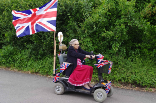 "Look at this Granny FLY! Her ride shows the world who she is - proudly British, full of fun, and someone NOT afraid to take corners on two wheels! As her grandchildren remember her ""A legend who lived life to the full - advocate of a 'no BS' approach to people"""